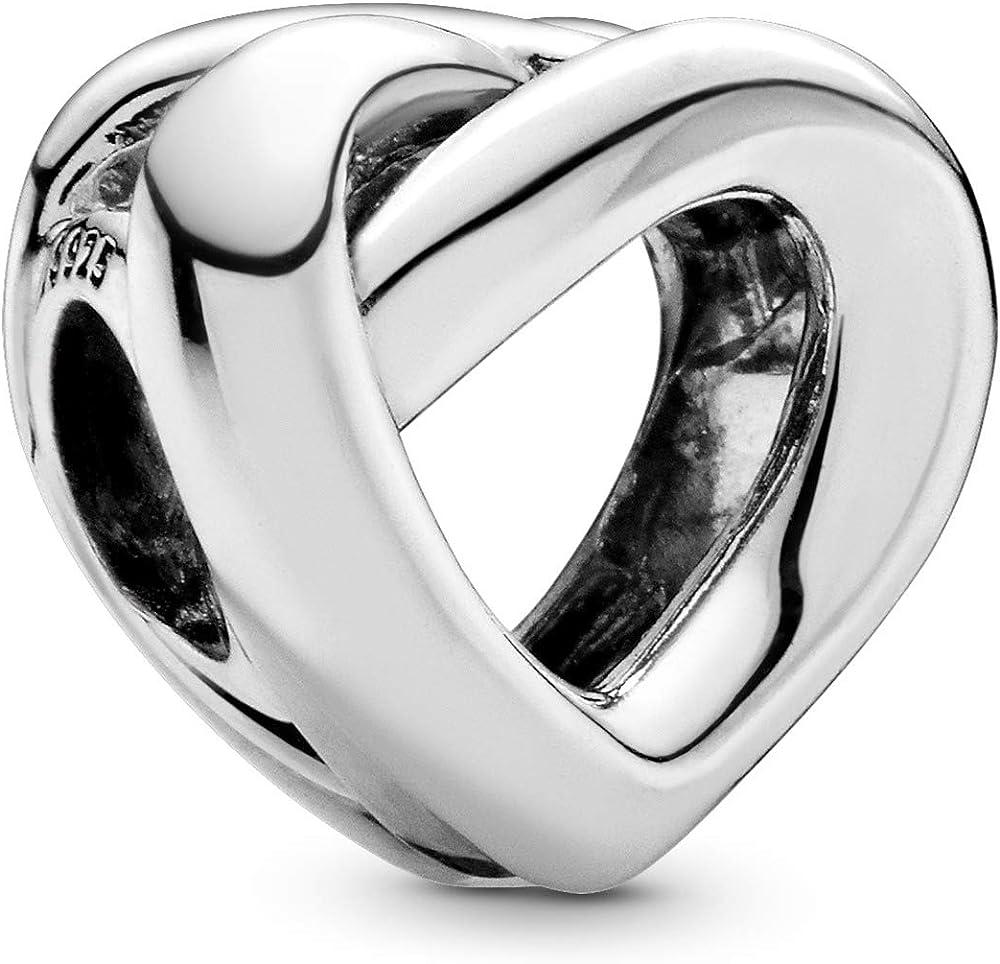 Pandora ciondolo da donna charm cuore intrecciato  in argento sterling 925 798081