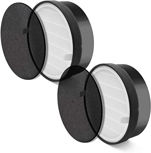 LEVOIT Air Purifier LV-H132 Replacement Filter, H13 True HEPA and Activated Carbon Filters Set, LV-H132-RF (2 Pack)