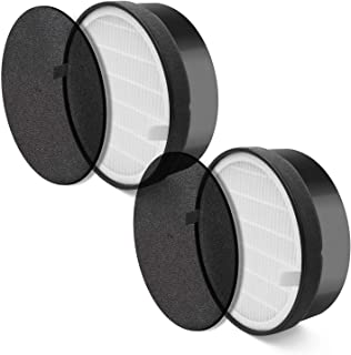 LEVOIT LV-H132 (2 Pack), True HEPA and Activated Carbon Set, LV-H132-RF Air Purifier Replacement Filter, Piece