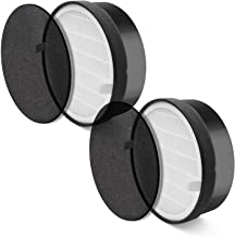 LEVOIT Air Purifier LV-H132 Replacement, True HEPA and Activated Carbon Filters Set, LV-H132-RF, 2 Pack, Black