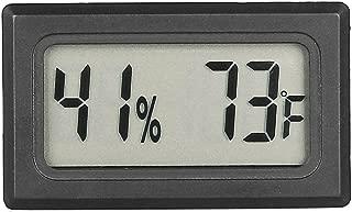 Qooltek Mini Hygrometer Thermometer LCD Display Digital Temperature Humidity Meter Gauge for Incubators Reptile and Humidors (Fahrenheit)