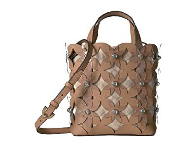 ZAC Zac Posen Floral Bouquet Small North/South Shopper (Latte) Handbags