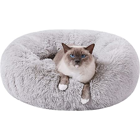 Furry Cat Bed FREE SHIPPING in USA Cat Bed Faux Fur Cat Bed Off White Luxury Pet Bed Chunky Crochet Cat Bed