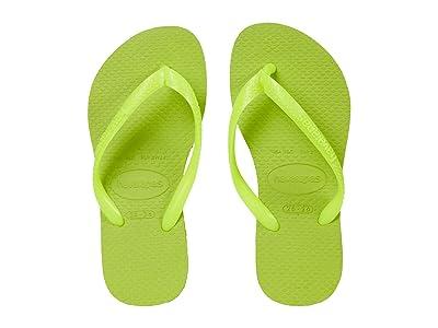 Havaianas Kids Slim Flip Flops (Toddler/Little Kid/Big Kid) (Galactic Green) Girls Shoes