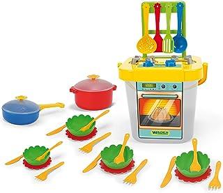 Wader 24140 – Kinderküche, Gelb und grau