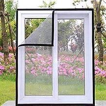 Anti-muggengaas voor kat, eenvoudige installatie raamgaas semi-transparant raamnet met zelfklevende tape