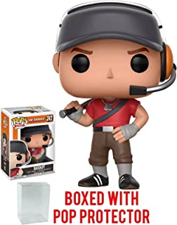Funko Pop! Games: Team Fortress 2 - Scout Vinyl Figure (Bundled with Pop BOX PROTECTOR CASE)