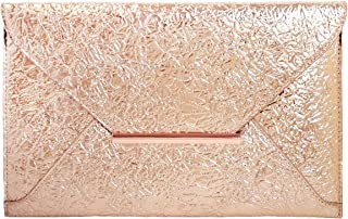 Crushed Metallic Envelope Clutch