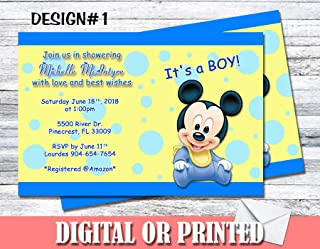 Mickey Mouse Baby Shower Boy Personalized Invitations More Designs Inside!