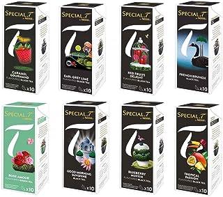 Nestlé Special.T Collection Creations pour appareil Nestlé Thé, Lot de 8 boîtes (10 capsules chaque boîte)