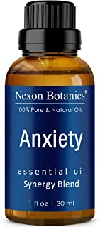 Anxiety Essential Oil Blend 30 ml - Blended and Packaged in USA - Helps Stress Away and Stress Relief - Relaxation, Calming Essential Oils - Can be Used for Aromatherapy and Diffuser - Nexon Botanics