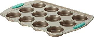 Rachael Ray 46684 Cucina Nonstick 12-Cup Muffin Tin With Grips / Nonstick 12-Cup Cupcake Tin With Grips - 12 Cup, Brown