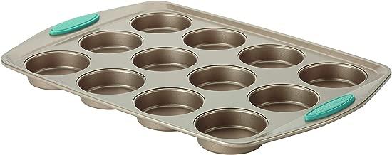 Rachael Ray 46684  Cucina  Nonstick 12-Cup Muffin Tin With Grips / Nonstick 12-Cup Cupcake Tin With Grips - 12 Cup, Brown