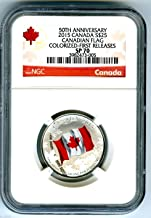 2015 CA Canada $25 50th Anniversary Canadian Flag .9999 Fine Silver Proof Colorized Coin FIRST RELEASES $25 SP70 NGC