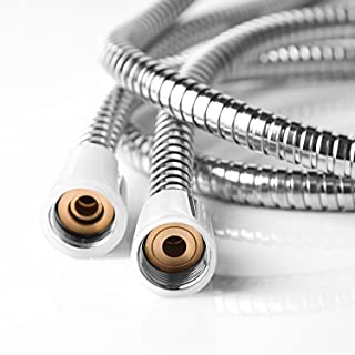 Shower Hose, Fivanus (8 Ft) (96 Inches) (2.45 Meters) Extra Long Chrome Handheld Shower Head Hose With Brass Coupler.
