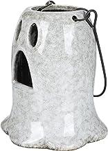 OSALADI Lanterna Do Dia Das Bruxas Fantasma Lanterna Da Vela de Cerâmica Com Alça Candlestick Suporte Da Vela Titular Teal...