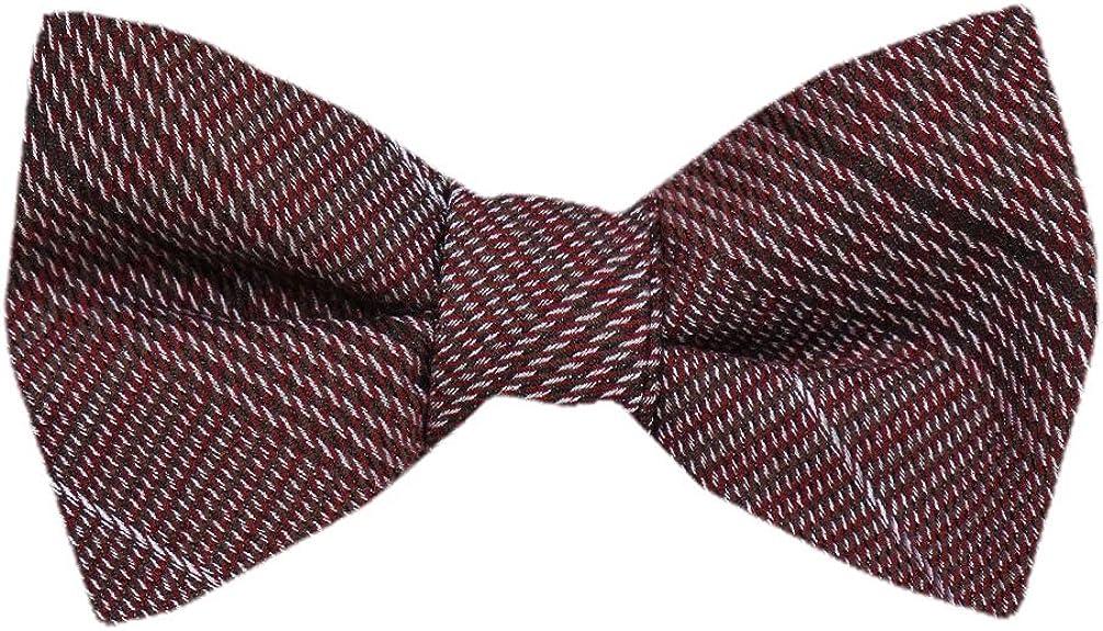 FBTZ-1310 - Men's Silk Self Tie Bowtie Tie Yourself Bow Ties