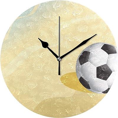 FANTAZIO Reloj de Escritorio Grande con diseño de balón de fútbol ...