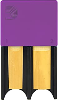 D'Addario Woodwinds Reed Guard for Bb Clarinet and Alto Saxophone, Purple