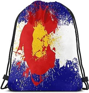 Colorado Flag By Monogatari Okami Drawstring Bags Multipurpose String Pull Bag String Backpack Durable Big Capacity Cinch Bags Portable Sports Bag Lightweight Storage Bag For Women Men Mountaineers