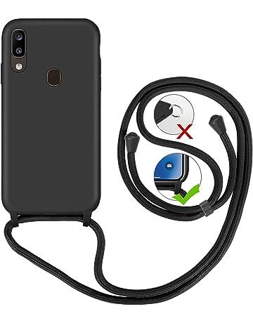 Bigcousin Funda con Cuerda Compatible con iPhone 6//6S//7//8 Plus,Carcasa de Silicona con Colgante con Ajustable Collar Cadena Cord/ón,Pink