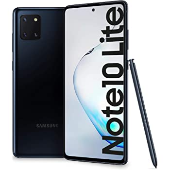 "Samsung Galaxy Note10 Lite Smartphone, Display 6.7"" Super AMOLED, 3 Fotocamere Posteriori, 128 GB Espandibili, RAM 6 GB, Batteria 4500 mAh, 4G, Hybrid Sim, Android 10, [Versione Italiana], Aura Black"