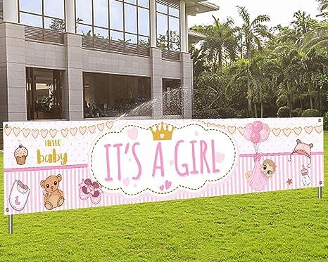 It/'s A Girl Banner Gender Reveal Sign