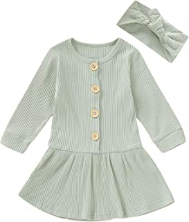 YOUNGER TREE Toddler Kids Baby Girl Outfit Clothes Strapless Stripe Dress+Headband Set