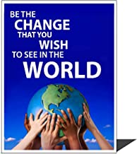 Be the Change wall art poster print - Young N Refined (16x20)