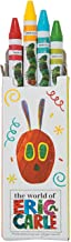 Fun Express - Very Hungry Caterpillar 4pc Crayon Boxes for Birthday - Basic Supplies - Drawing - Crayons - Birthday - 24 Pieces