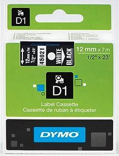 DYMO Standard D1 45010 Labeling Tape (Black Print on Clear Tape, 1/2'' W x 23' L, 1 Cartridge)