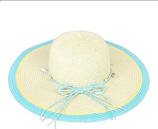 Chic Headwear Color Brim Paper Braid Hat w/Bow