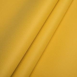 Pure Textilien Polyester Oxford 600D 1lfm - Wasserdicht, Outdoor Stoff, Segeltuch, Abdeckplane Gelb