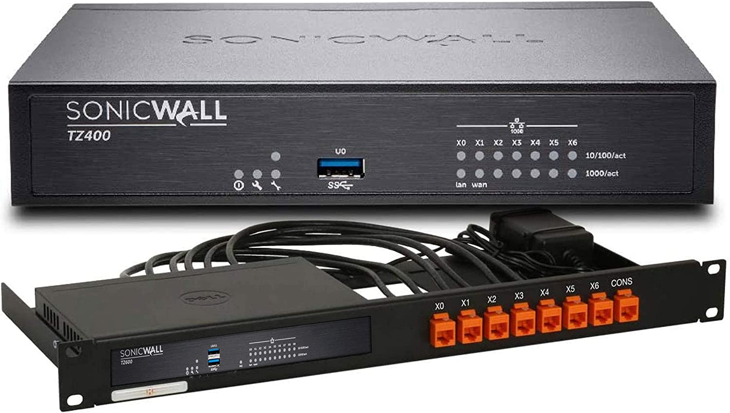 SonicWall TZ400 Network Security Appliance and 2YR Secure Upgrade Plus Bundle with Rackmount Kit (01-SSC-0504+RM-SW-T4)