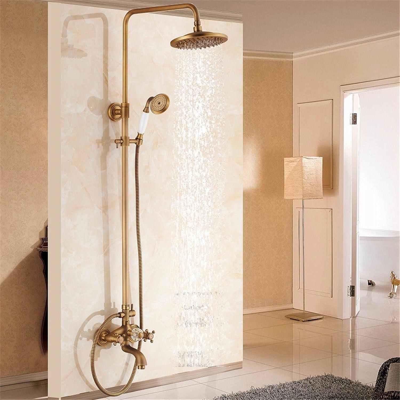 Shower taps, antique shower, shower set, all copper bath, hot and cold shower taps, shower, European style,H
