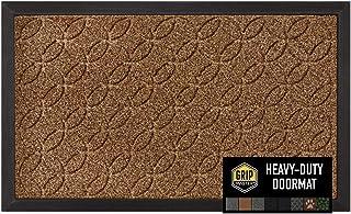 Best GRIP MASTER Durable All-Natural Tough Rubber Doormats, 29x17 Size, Waterproof Boots Scraper Mats, Heavy Duty Indoor Outdoor Door Mat for Winter Snow, Low-Profile Easy Clean, Beige Basket Weave Review