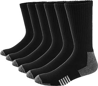 Ueither, Hombre Mujer Cómodos y Transpirables Calcetines de deporte Acolchados Performance Crew Socks 6 Pares