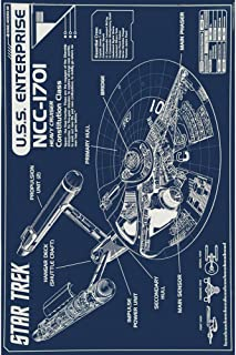 star trek blueprints poster