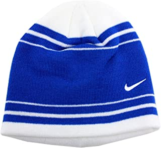 Nike Boy s Contrasting Game Royal Stripe Knit Winter Beanie Hat Sz  Youth 8  20 a39ad49cde27