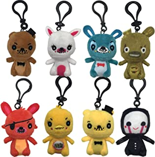 HENGYUAN 8pcs Foxy/Springtrap /Mangle/Freddy/Bonnie Keychains Plushies Set Gift for Fans
