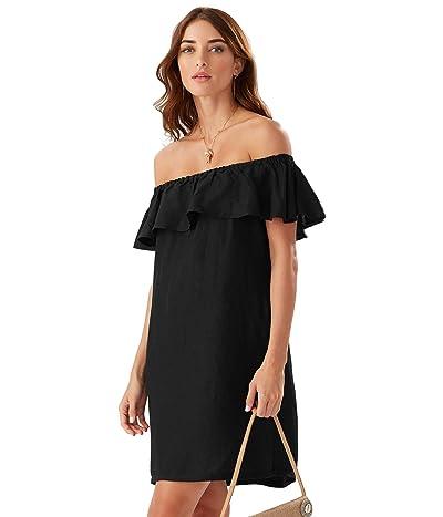 Tommy Bahama Linen Dye Off-the-Shoulder Dress Cover-Up