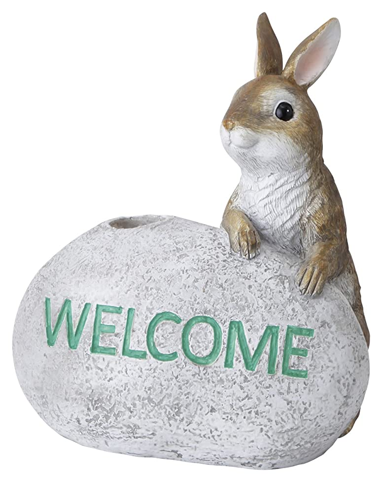 技術者平和なリズムタカショー ソーラーライトスタンド ウサギ