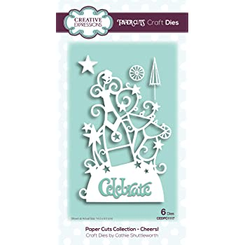 13.9 x 4.9 cm Metal Creative Expressions Paper Cuts Edger-Drinkerbell-Craft Die