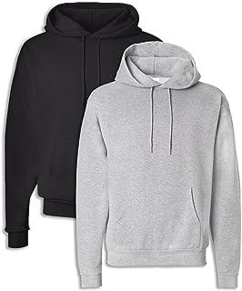 1 Smoke Grey Hanes P170 Mens EcoSmart Hooded Sweatshirt XL 1 Cardinal