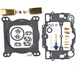 Carburetor Rebuild Kit For Edelbrock 1477 1400 1404 1405 1406 1407 1411 1409 With Brass Floats