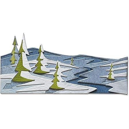 Sizzix 664971 Matrice de decoupe Thinlits Snowscape Colorize par Tim Holtz, Lot de 6 Scrapbooking, Multicolor, Taille unique
