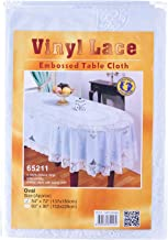 """Dolphin Collection Vinyl Lace Tablecloth, 54x72"""", Oval"""