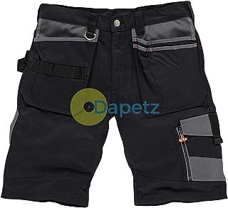 "Dapetz ® Trade Short Black Size 30"" W YKK Zipped Fly. 65% Polyester, 35% Cotton, 250gsm."