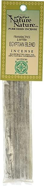 Egyptian Blend Frankincense And Myrrh Pure Resin Over Stick Incense Nature Nature 10 Sticks