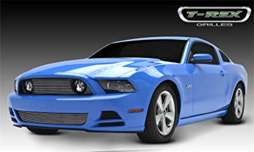 T-Rex 21526 Horizontal Aluminum Polished Finish Billet Grille Overlay for Ford Mustang GT
